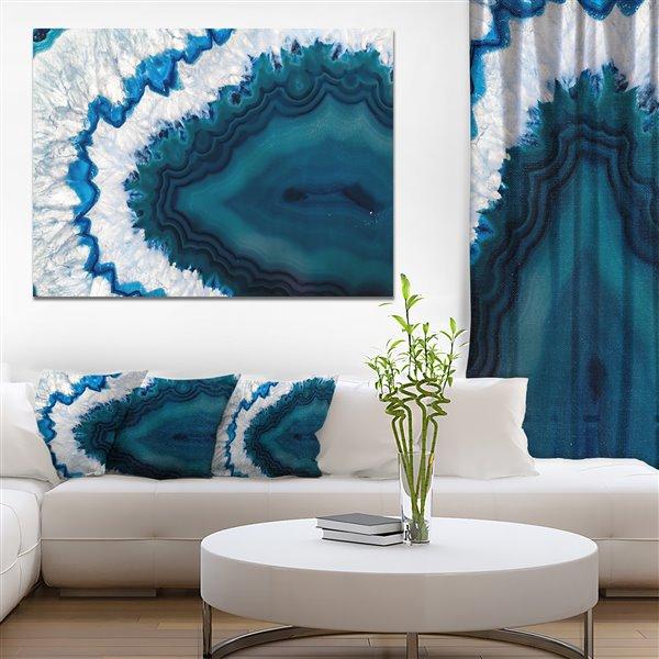 """Art mural sur toile, géode bleue brésilienne, 40"""" x 30"""""""