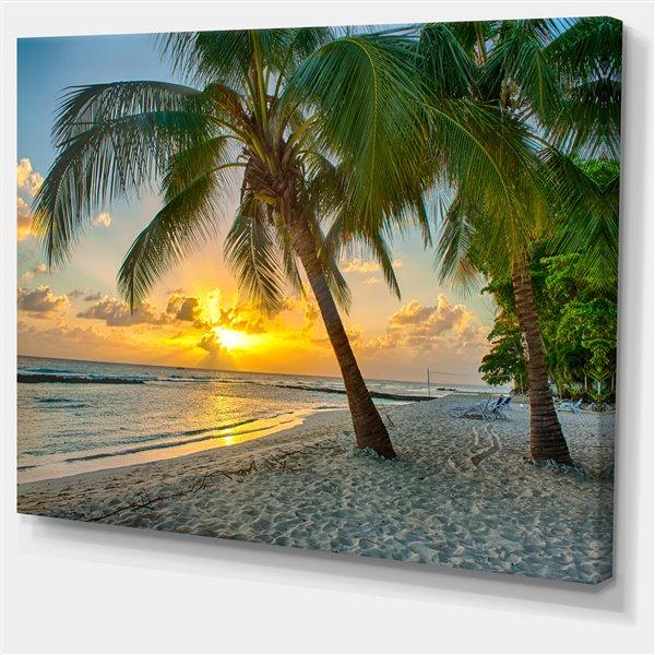 """Tableau, plage de la Barbade, 40"""" x 30"""""""