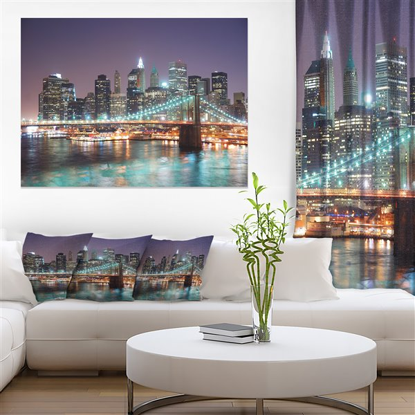 Designart Canada New York Skyscrapers 30-in x 40-in Canvas Wall Art