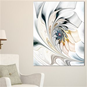 Designart Canada White Stained Glass 30-in x 40-in Canvas Print Wall Art