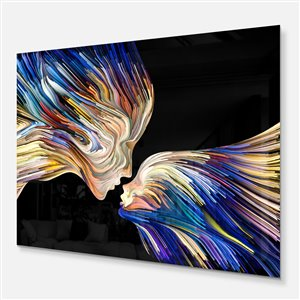 Designart Canada Sensual Metaphorical Mind 30-in x 40-in Metal Wall Art