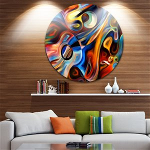 Designart Canada Music and Rhythm 38-in Round Metal Wall Art