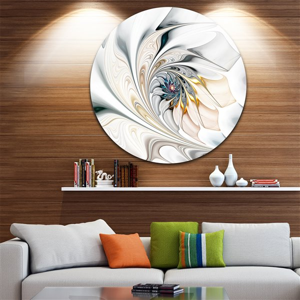 Designart Canada Stained Glass 11-in Round Metal Wall Art
