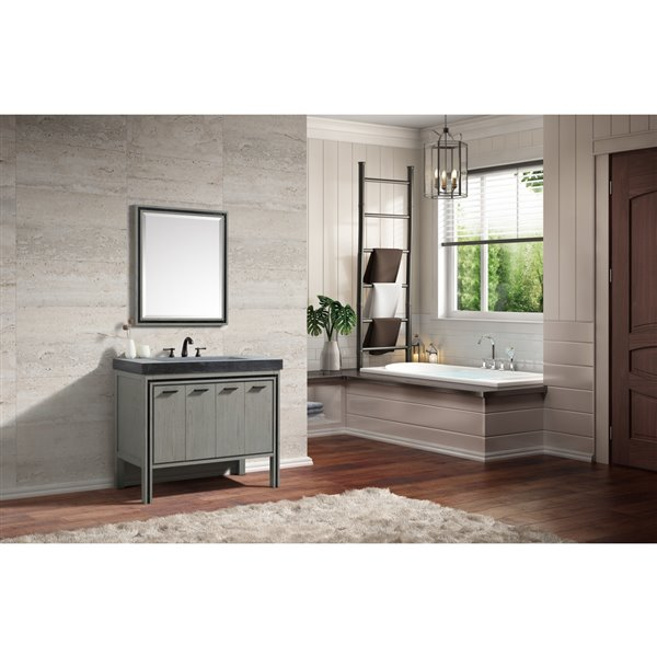 Avanity Dexter 30-in Grey Bathroom Mirror