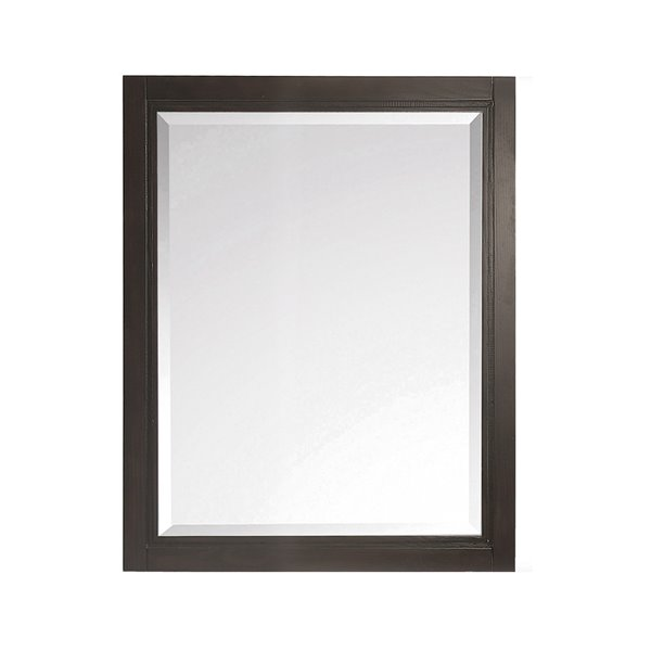 Avanity HAvanity Hepburn 24-in Chocolate Bathroom Mirrorepburn Chocolate Bathroom Mirror 24-in