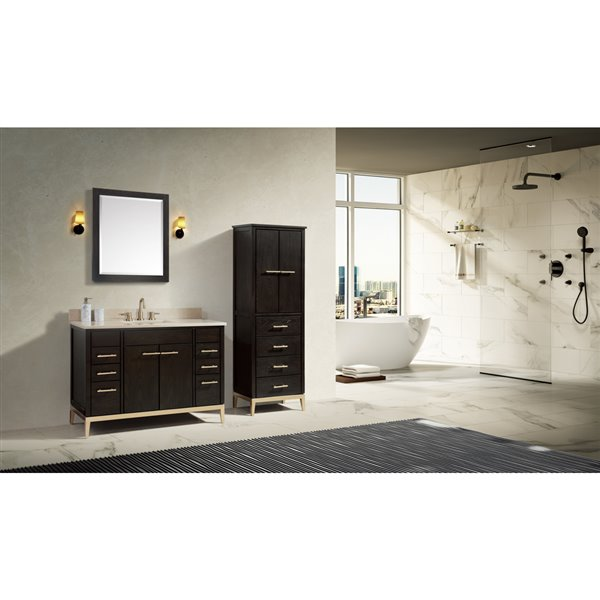 Avanity Hepburn 28-in Chocolate Bathroom Mirror