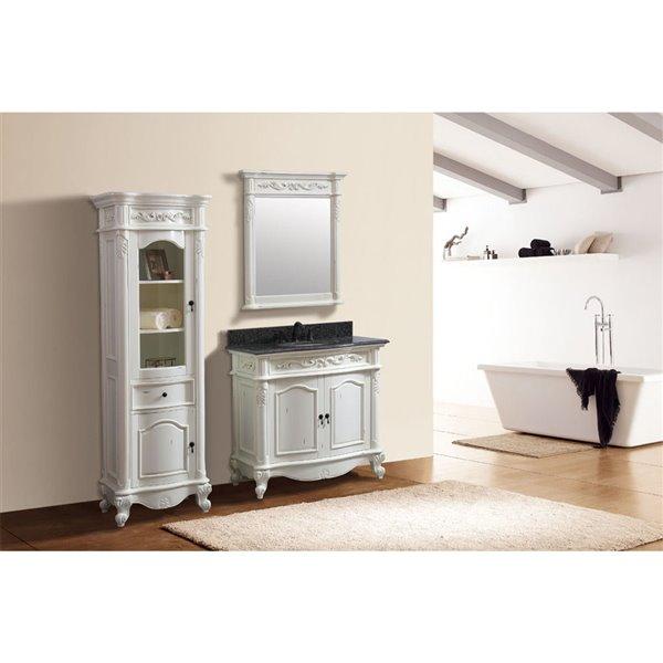 "Miroir salle de bain Provence, Avanity, 30"", blanc antique"