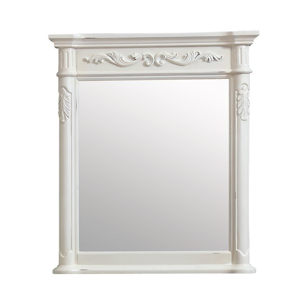 Avanity Provence Antique 30-in White Bathroom Mirror