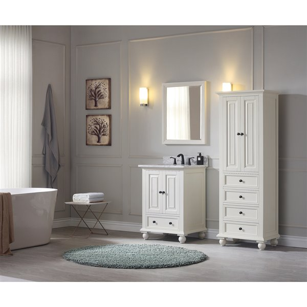 """Miroir pour salle de bain Thompson de Avanity, 24"""", blanc"""