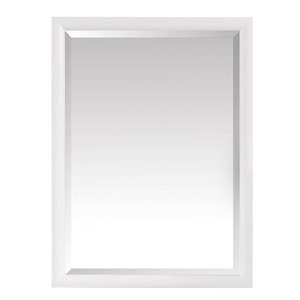 Avanity Emma 24-in White Bathroom Mirror