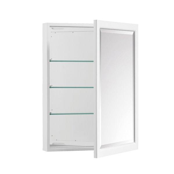 Avanity Emma 22-in White Bathroom Mirror Cabinet