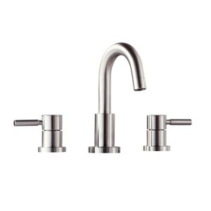 Avanity Positano 8-in Brushed Nickel Bathroon Faucet
