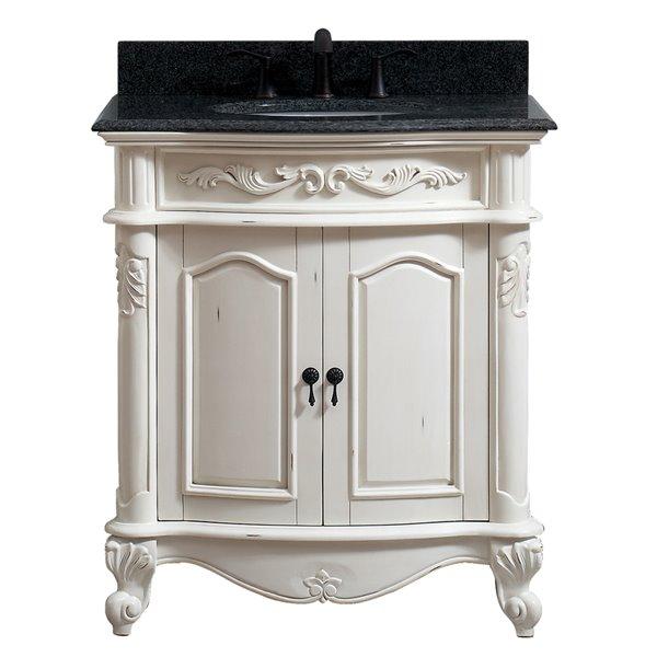 "Vanité Provence de Avanity , comptoir en granit, 31"", blanc"