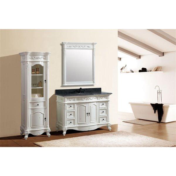 Avanity Provence 49-in Single Sink White Bathroom Vanity with Granite Top