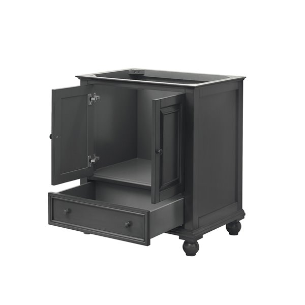 Thompson 31-in Single Sink Charcoal Bathroom Vanity with Marble Top