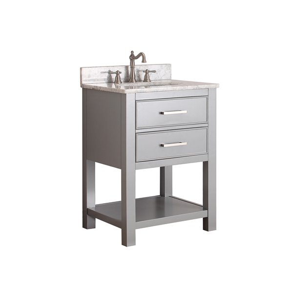 Avanity Brooks 25-in Gray With Sink Marble Top Vanity