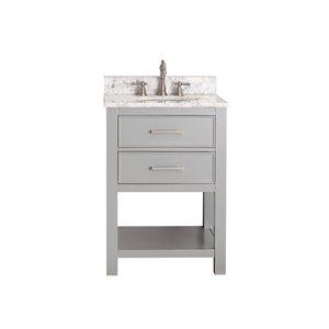 Avanity Brooks 25-in Gray With Sink Marble Top Vanity
