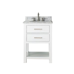 "Meuble-lavabo et comptoir Brooks de Avanity , 25"", blanc"
