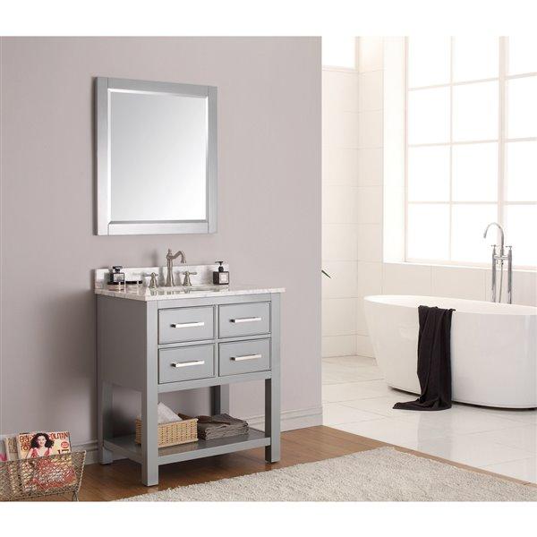 """Meuble-lavabo et comptoir Brooks de Avanity , 31"""", gris"""