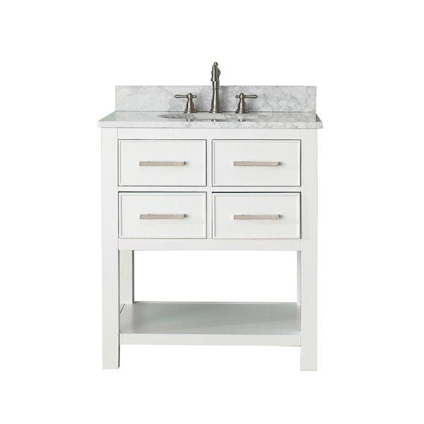 "Meuble-lavabo et comptoir Brooks de Avanity, 31"", blanc"