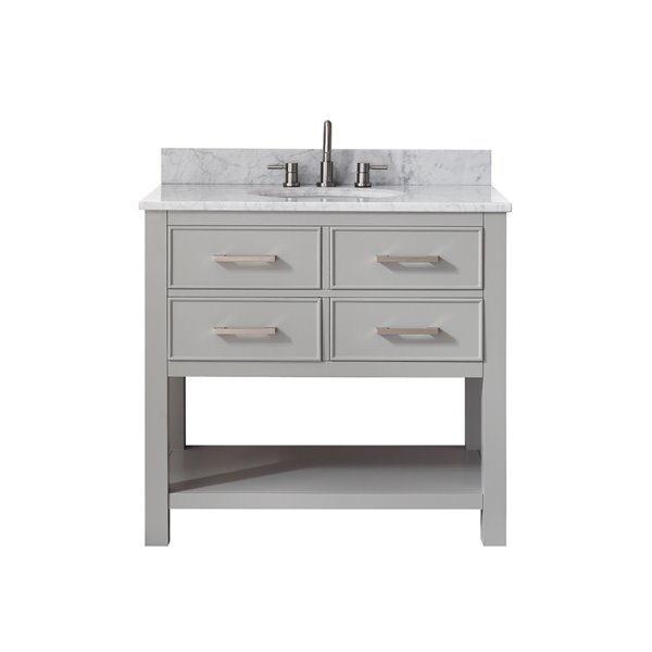 Avanity Brooks 37-in Gray With Sink Marble Top Vanity