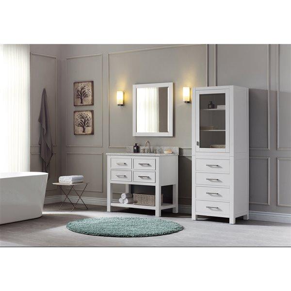 "Meuble-lavabo et comptoir Brooks de Avanity, 37"", blanc"