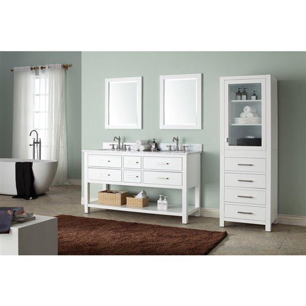 "Meuble-lavabo et comptoir Brooks de Avanity, 61"", blanc"