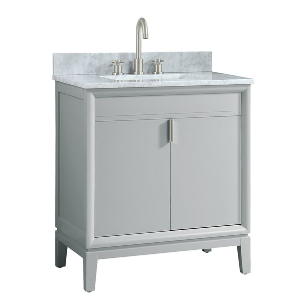 Emma 31-in Gray With Sink Marble Top Vanity