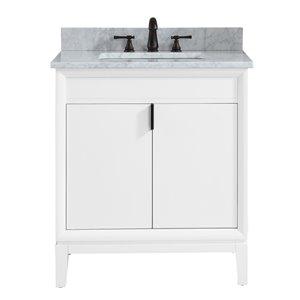 "Meuble-lavabo et comptoir Emma de Avanity , 31"", blanc"