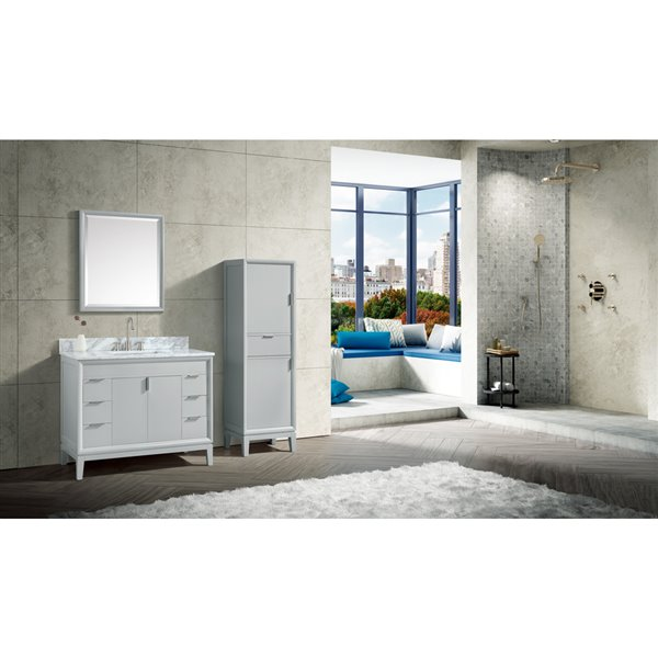 Avanity Emma 43-in Gray With Sink Marble Top Vanity