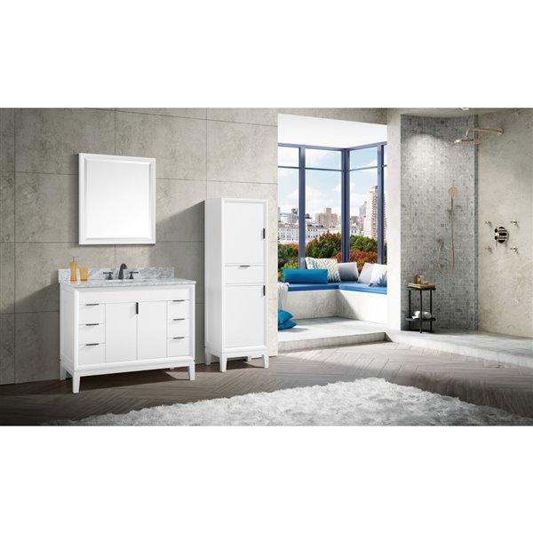 "Meuble-lavabo et comptoir Emma de Avanity,  43"", blanc"