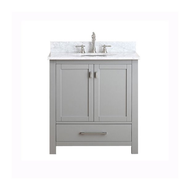 Modero 31-in Gray With Sink Marble Top Vanity