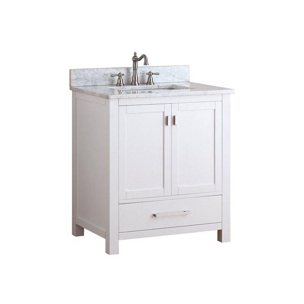 Avanity Modero 31-in White With Sink Marble Top Vanity