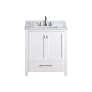 Modero 31-in White With Sink Marble Top Vanity