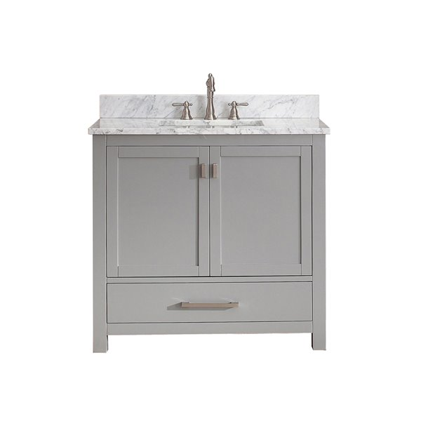 Avanity Modero 37-in Gray With Sink Marble Top Vanity