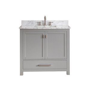 Modero 37-in Gray With Sink Marble Top Vanity