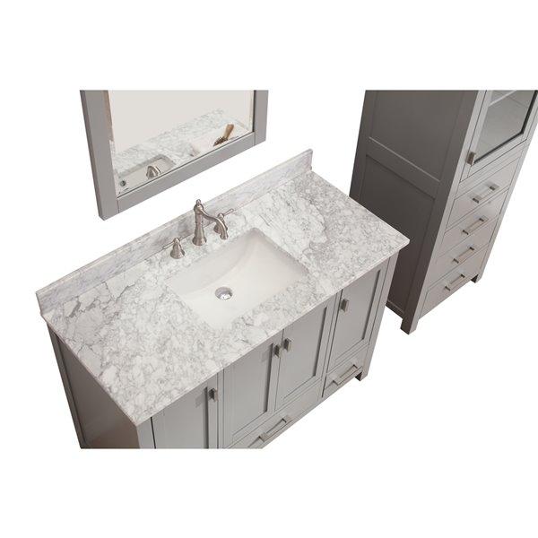 """Meuble-lavabo et comptoir Modero de Avanity, 49"""", gris"""