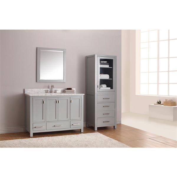 Avanity Modero 49-in Gray With Sink Marble Top Vanity