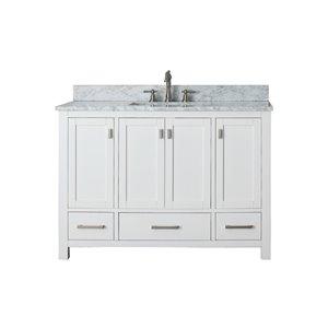 "Meuble-lavabo et comptoir Modero de Avanity, 49"", blanc"