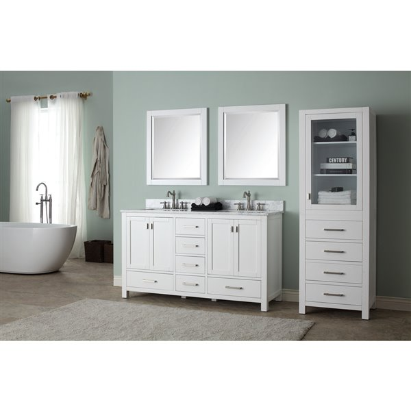 "Meuble-lavabo et comptoir Modero de Avanity,  61"", blanc"