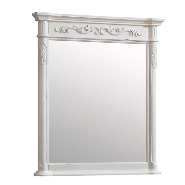 Avanity Provence Antique 36-in White Bathroom Mirror