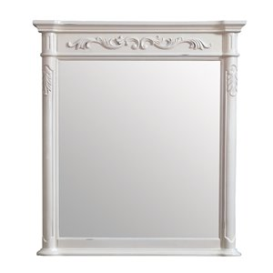 Avanity Provence Antique 36-in White Bathroom Mirror