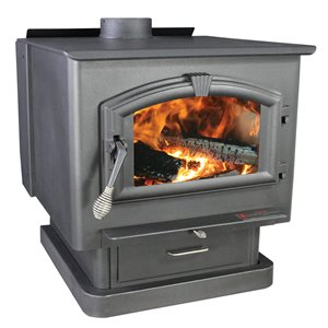US Stove Company 29.00-in x 27.00-in 3000 sq ft Wood Stove With Blower