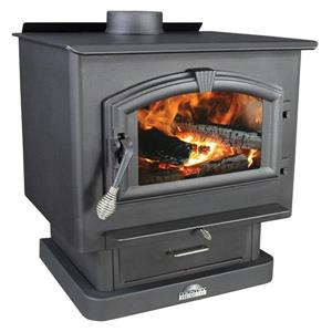 US Stove Company 29.00-in x 27.00-in 2500 sq ft Steel Plated Wood Stove