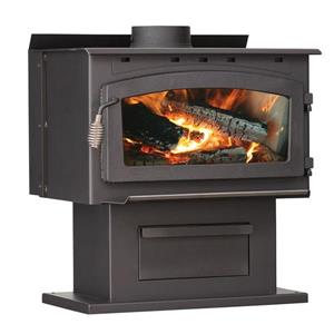 US Stove Company 30.25-in x 27.00-in 2000 sq ft Wood Stove With Blower