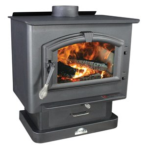 US Stove Company 29.00-in x 27.00-in 2000 sq ft Medium Wood Stove
