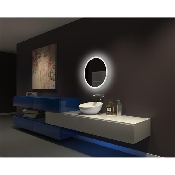 Paris Mirror 24-in x 24-in 3000K 24V LED Lighting Mirror