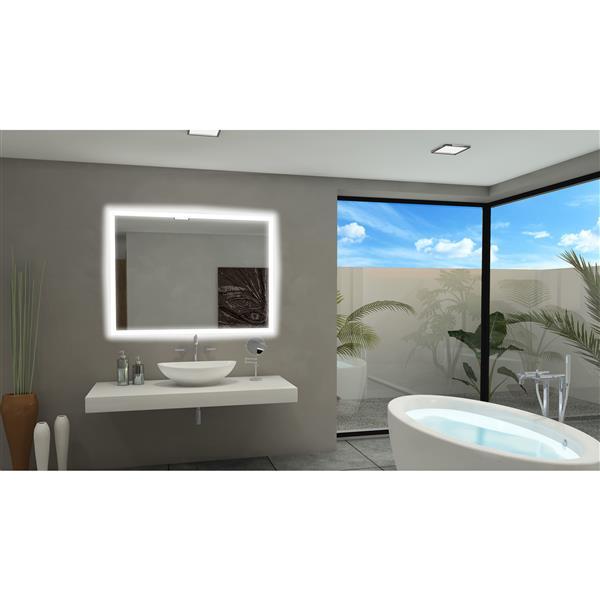 Paris Mirror 60-in x 36-in 6000K 24V LED Lighting Mirror