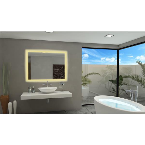 Paris Mirror 60-in x 36-in 3000K 24V LED Lighting Mirror