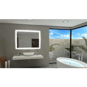 Paris Mirror 40-in x 36-in 6000 K 24 V LED Lighting Mirror